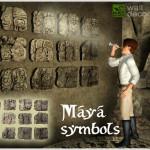 """Dekorace """"mayské symboly"""""""