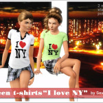 """Tričko """"I love NY"""""""